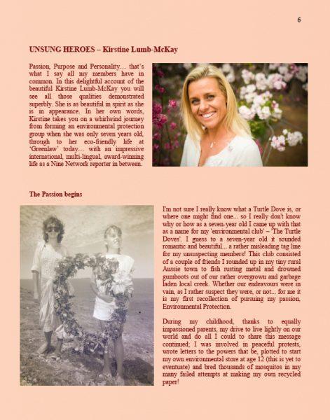 Kirstine McKay Unsung Heroes